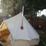how to clean a canvas bell tent